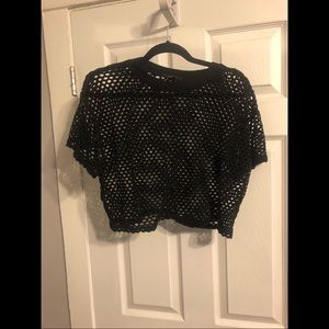Fishnet Cropped Top.